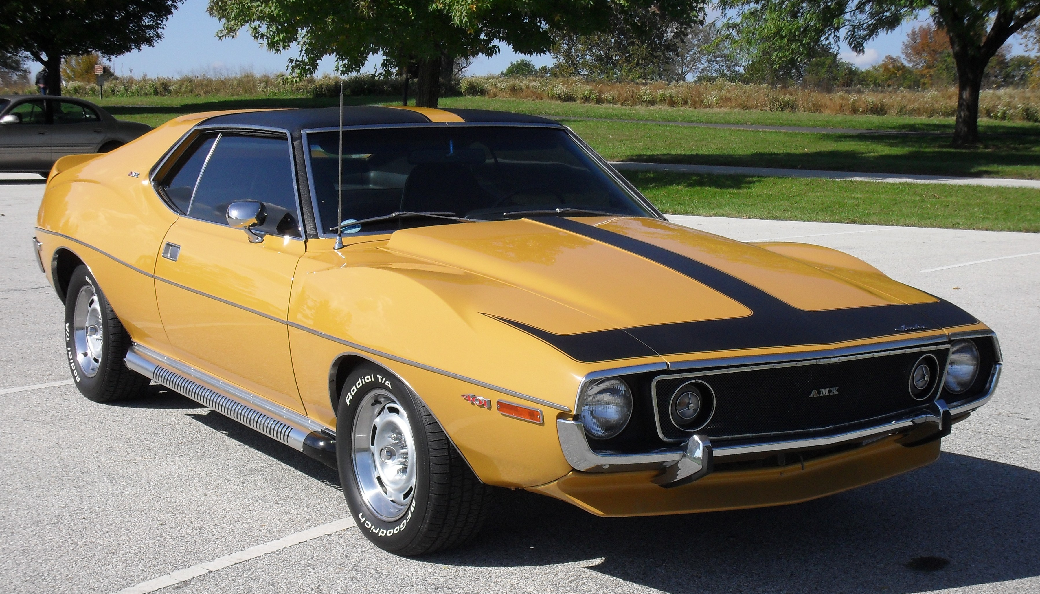 of AMC Javelin-AMX Coupe 1971 3DTuning com - unique on-line car    Yellow Javelin Car